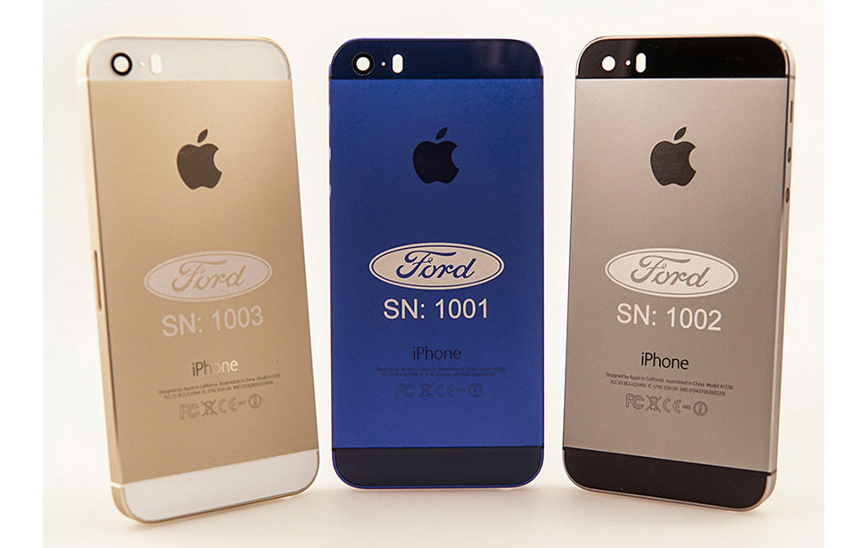 Ford Logo Engraving on Anodized iPhone Case