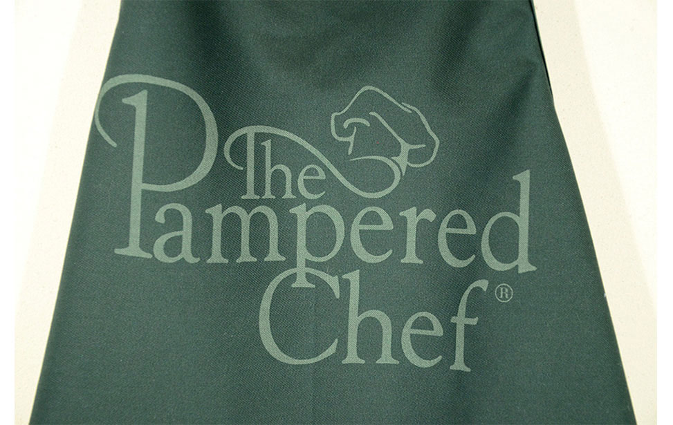 Laser etched chef's apron