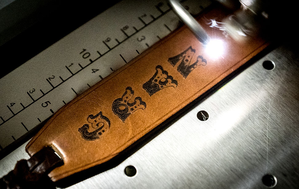 Laser Engraving a Leather Bookmark