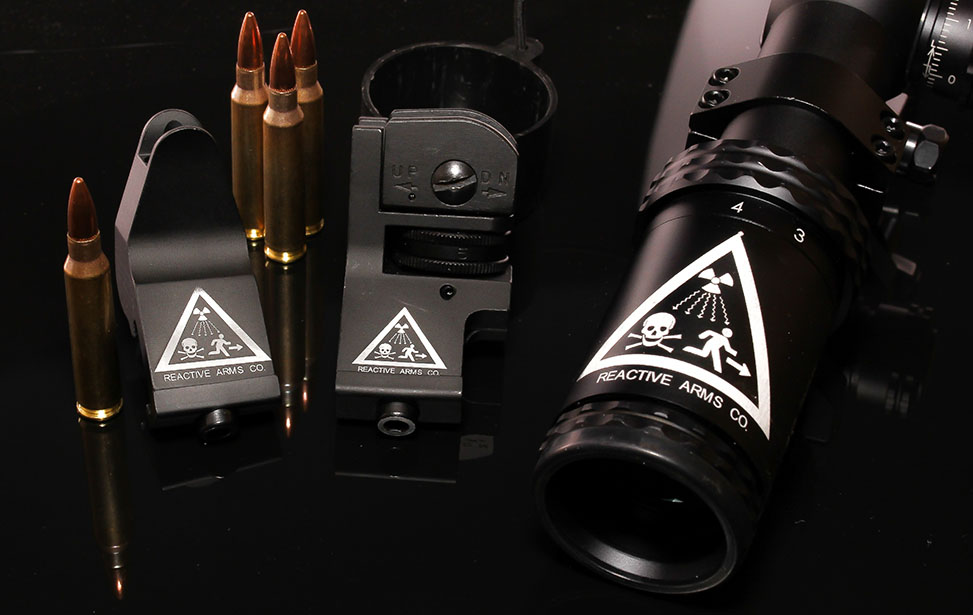 Firearm Components Marked with an Epilog Fiber Laser