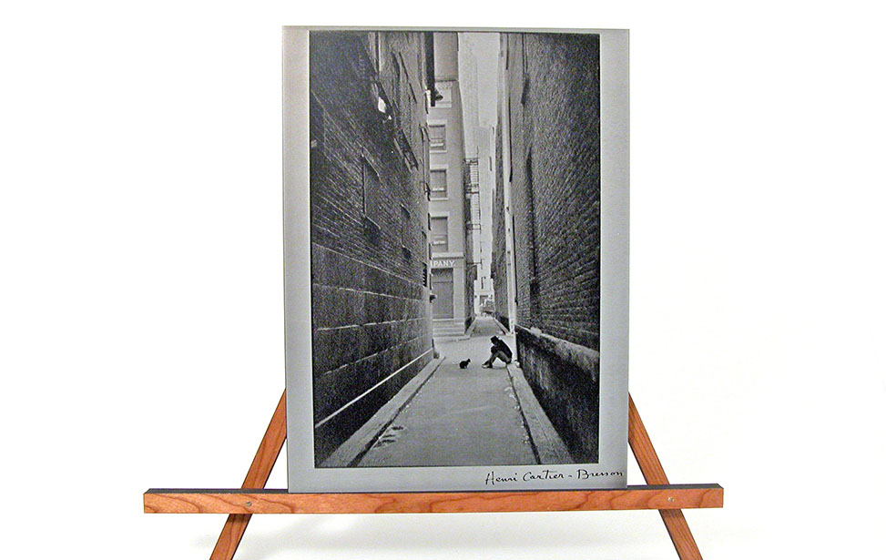 Laser Engraved Photo of an Alley