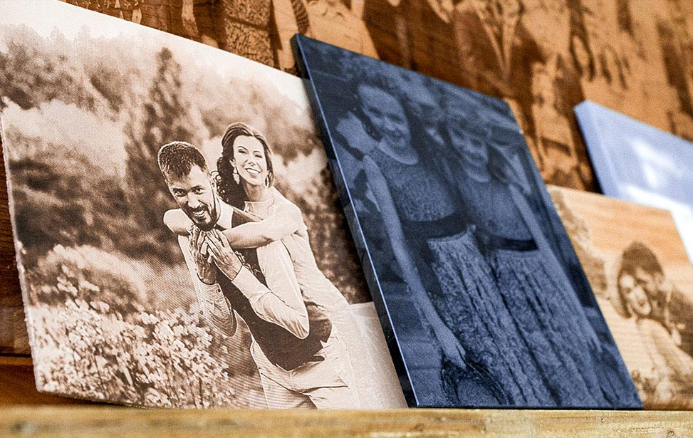 Laser Engraved Wedding Photos Group