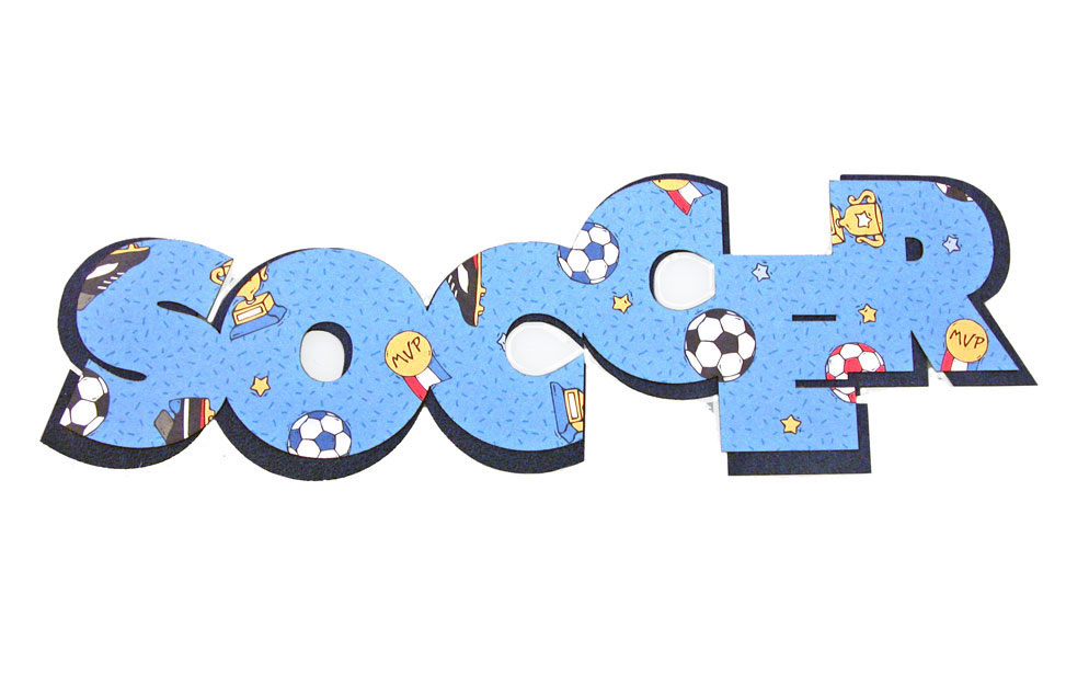 Soccer Text Cut with Laser
