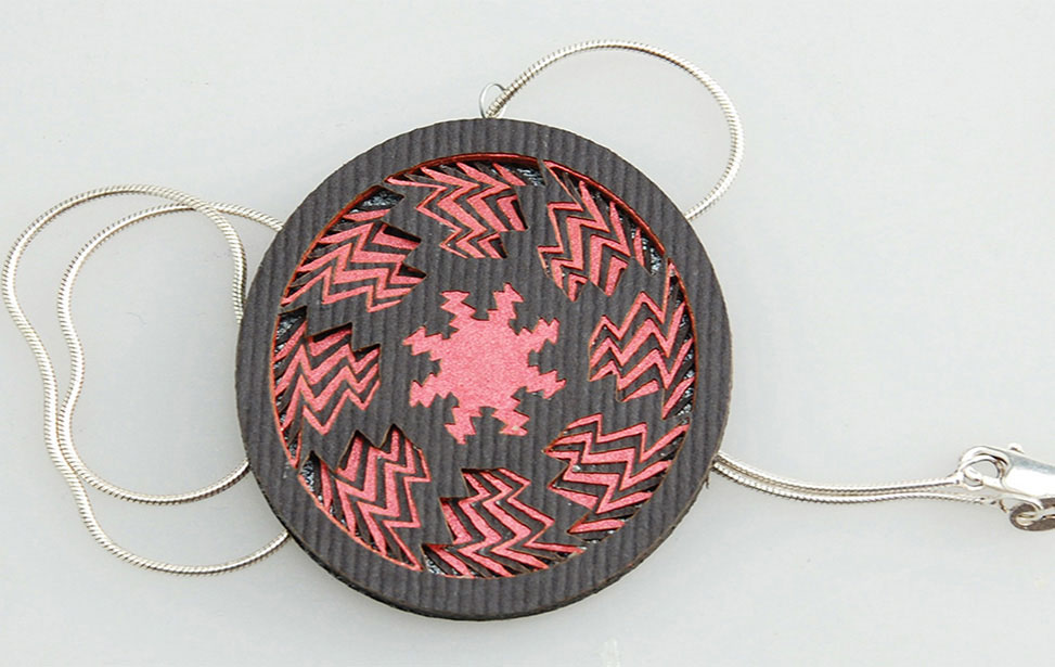 Paper Pendant Cut with Laser