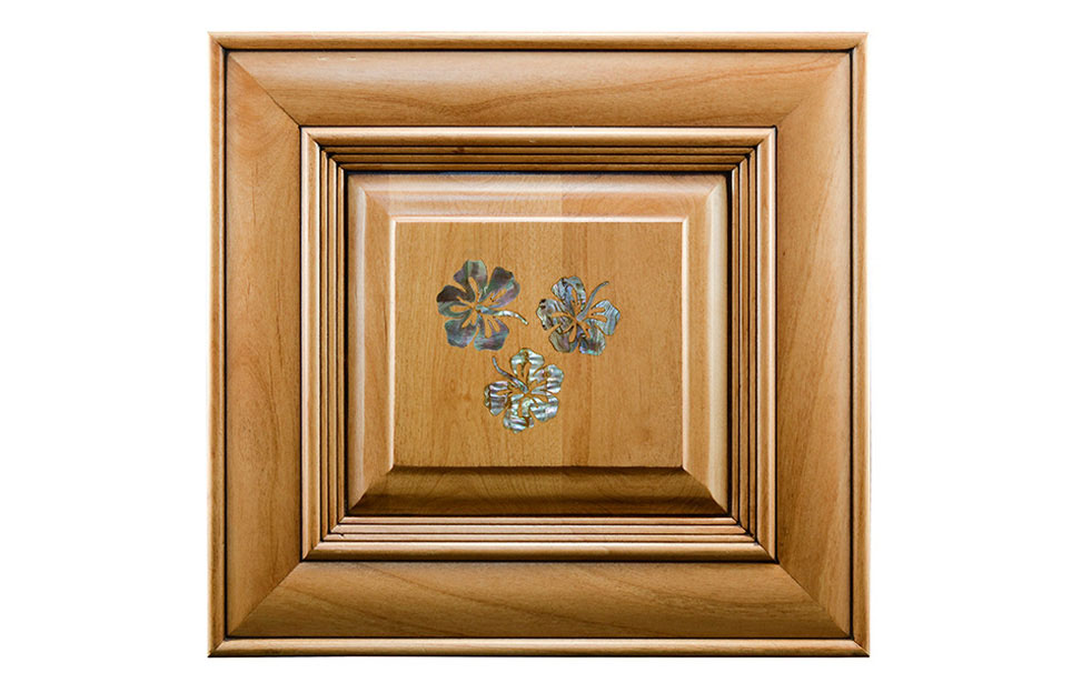 Wooden Cabinet with Mother of Pearl Inlay