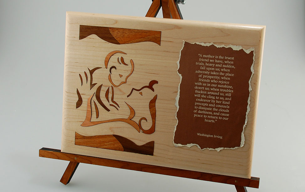 Mother's Day Plaque with Laser Cut Inlay