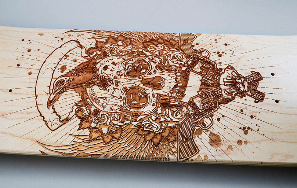 Wood Engraving And Cutting With A Laser Machine From Epilog