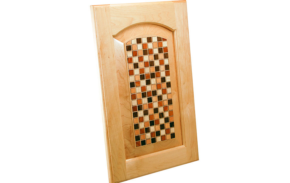 Cabinet with Square Veneer Inlay