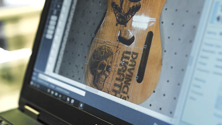 Setting up a graphic in the Fusion Pro print software
