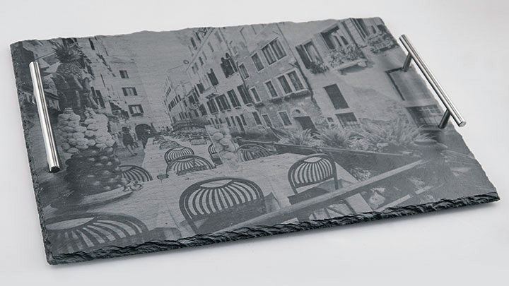 etching photos on slate