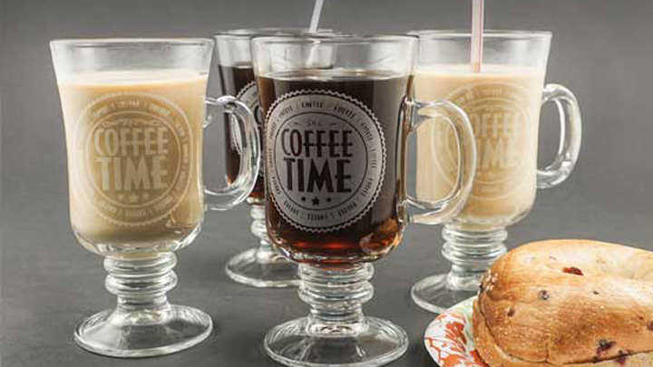 glass mugs engraved with a laser