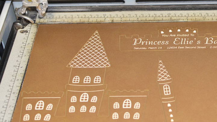 laser cut pieces for invitation