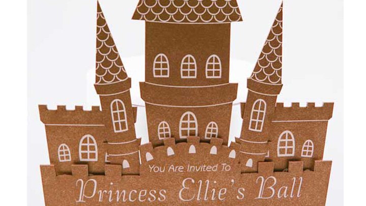 complete laser cut party invitation