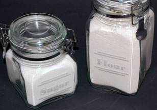 flour engraved canister