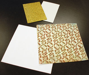 Materials for the laser snowflakes.