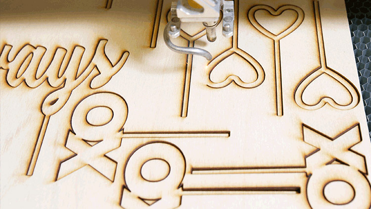 laser cutting cake toppers