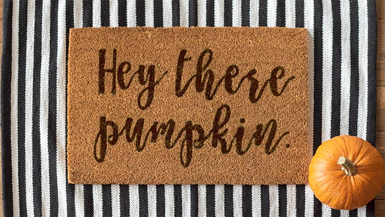 coir doormat seasonal holiday umpkin themed doormat