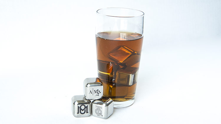 stainless steel ice cubes after customization