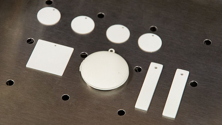 jewelry placed in the laser system