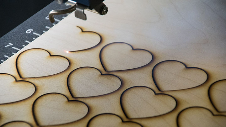 Laser engraving a wedding guestbook shadow box