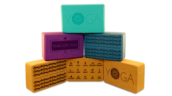 yoga blocks. cork yoga blocks. foam yoga blocks. detailed yoga blocks.